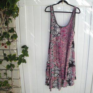 Free People Boh0 High Low Printed Maxi Dress M